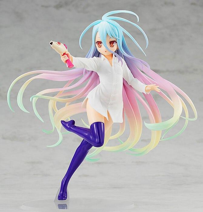 H90b29b975560426e8875c45b38322c53M Action Figure No Game No Life anime figura shiro jibril menina sexy pistola de água ver. Figura de ação pvc shiro jibril collectible modelo boneca presente
