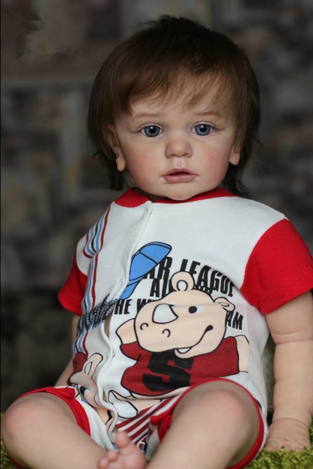 60 см реального прикосновения Reborn Одежда для малышей для мальчиков и девочек, с готовой кукла ткань тела Секс игрушки Реалистичные 24 дюйма, силикон, принцесса живые Bebe