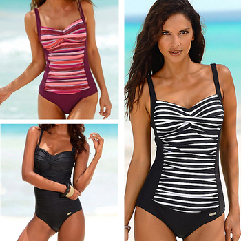 2020 New One Piece Swimsuit Plus Size Swimwear Women Classic Vintage Bathing Suits Beachwear Backless Slim Swim Wear M~2XL 6
