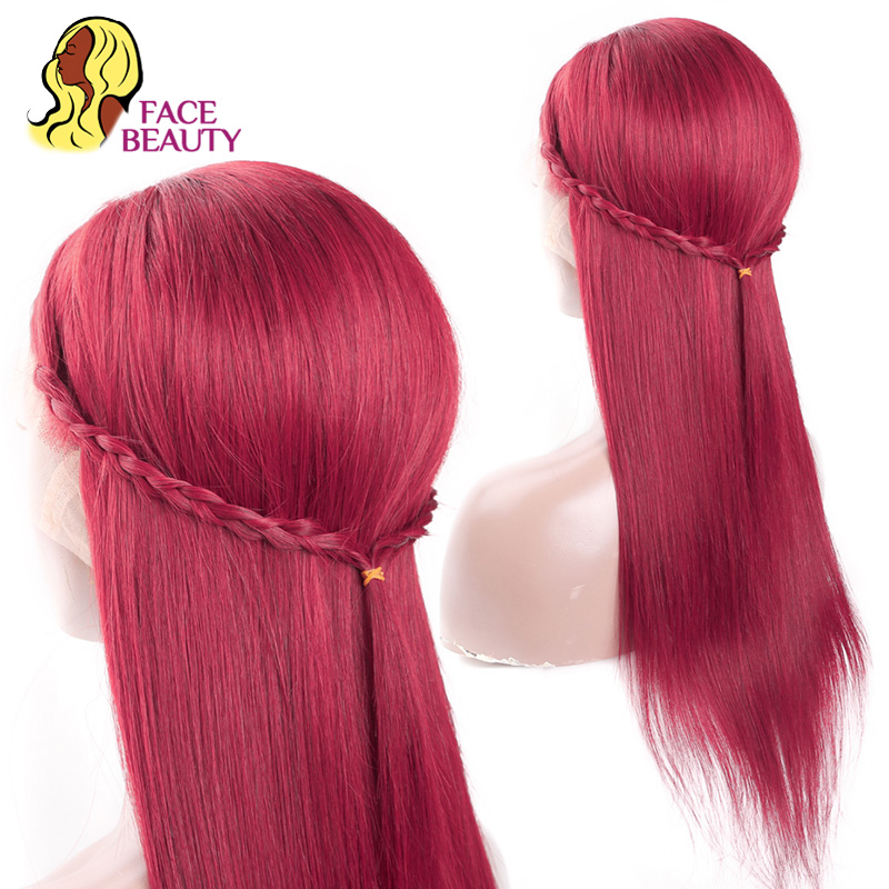 Image 5 - Facebeauty #350 Long Straight Human Hair Wigs Brazilian Remy Orange Colored Glueless Lace Front Wigs Pre Plucked Free Shipping-in Human Hair Lace Wigs from Hair Extensions & Wigs