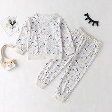 Футболка с героями мультфильмов для маленьких мальчиков; топ+ штаны; Пижама; одежда для сна; комплект одежды с героями мультфильмов; повседневная детская одежда с длинными рукавами