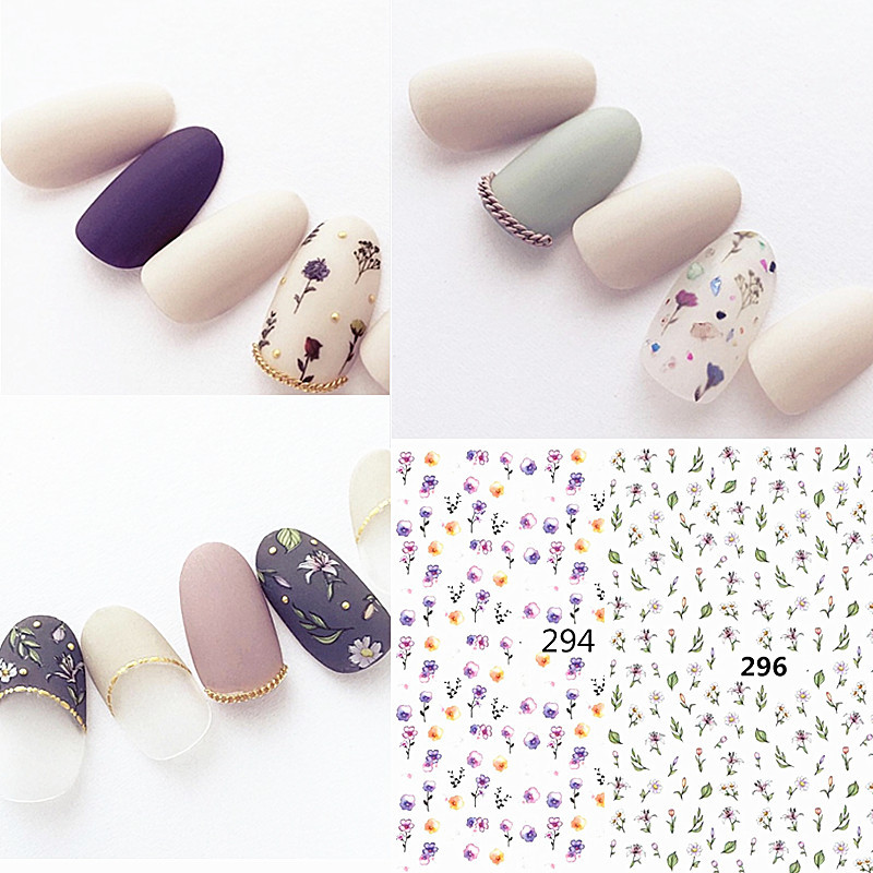 Ultra-Thin Manicure Gum 3D Sticker Herbaceous Dried Flower Pressed Flower Rose Japanese-style Amaily Style Nail Decals