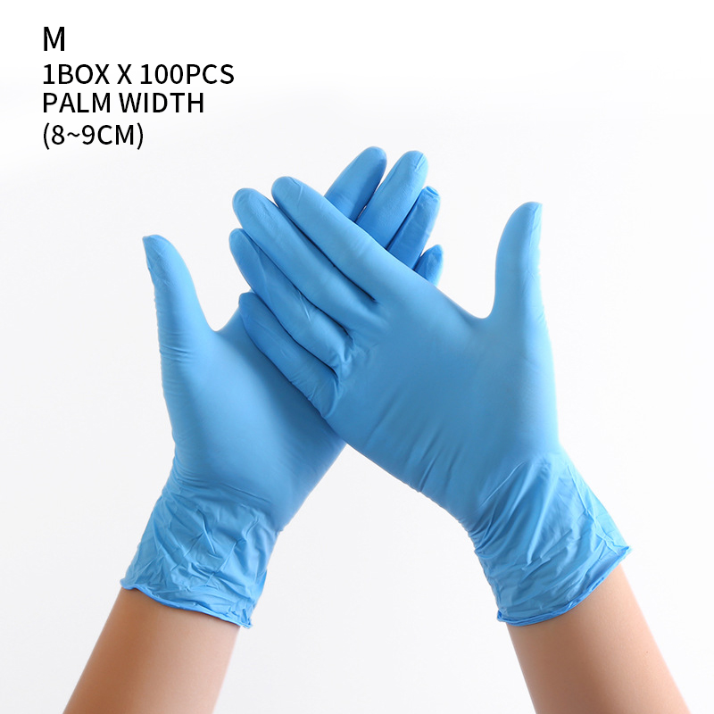 100 PCS Disposable Nitrile Gloves and Multi Purpose Latex Gloves for Virus and Flu Protection 45