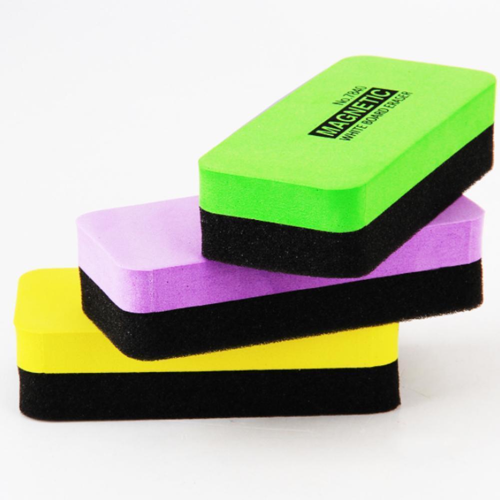 5pcs Color Blackboard Eraser Magnetic Whiteboard Eraser Eraser Creative Whiteboard Green Eraser Whiteboard U7B1