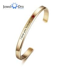Id-Bracelet Engraved Name-Bar Custom Stainless-Steel Jewelora Personalized Women