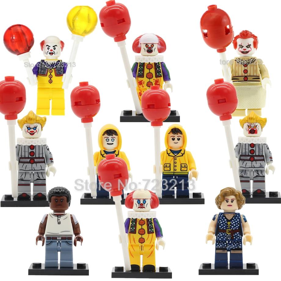 Movie It Figure Single Sale Pennywise Stephen King's It Beverly Marsh George Mike Hanlon Clown Model Building Blocks Bricks Toys