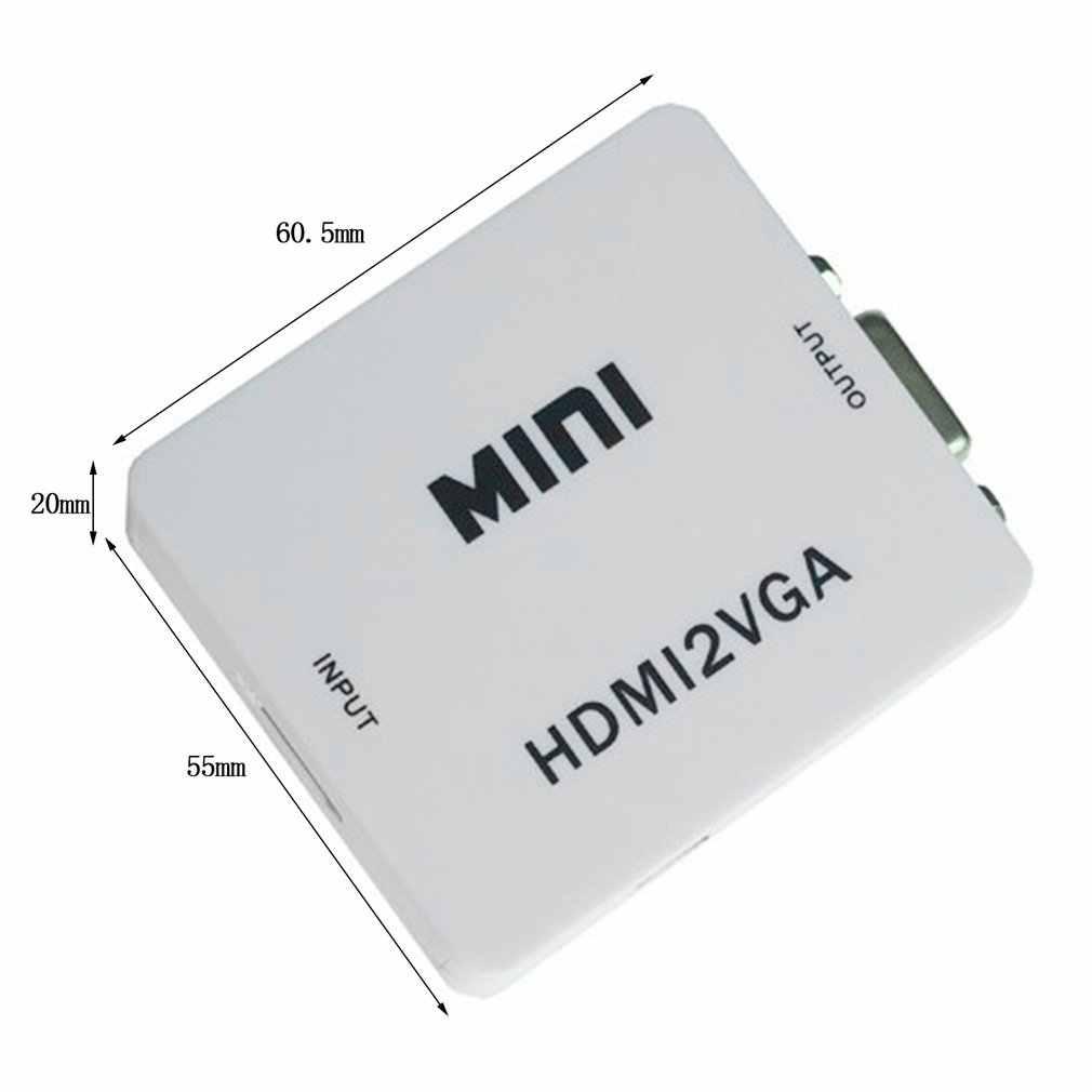 Mini USB 1080P HDMI a VGA Audio vídeo HDTV convertidor Full HD 1080p HDMI a adaptador VGA para ordenador portátil a proyector HDTV