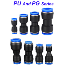 Pneumatic Fittings Fitting Plastic Connector PU 4mm 6mm 8mm 10mm For Air water Hose Tube Push in Straight Gas Quick Connection
