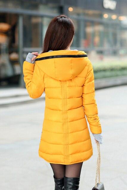 NEEDBO Long Winter Jacket Women Parka Pultra Light Coat Winter Hooded Oversize Winter Autumn Warm Puffer jacket Coat Lady Jacket 2