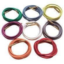 Weiou – lacets ronds et épais, avec Aglets en métal doré, 100% coton ciré, cordons de chaussures de sport tendance, 2021