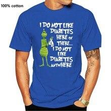 Ben gibi değil diyabet burada veya var klasik siyah T Shirt. En iyi noel hediyesi. Yaz tarzı gündelik giyim Tee gömlek