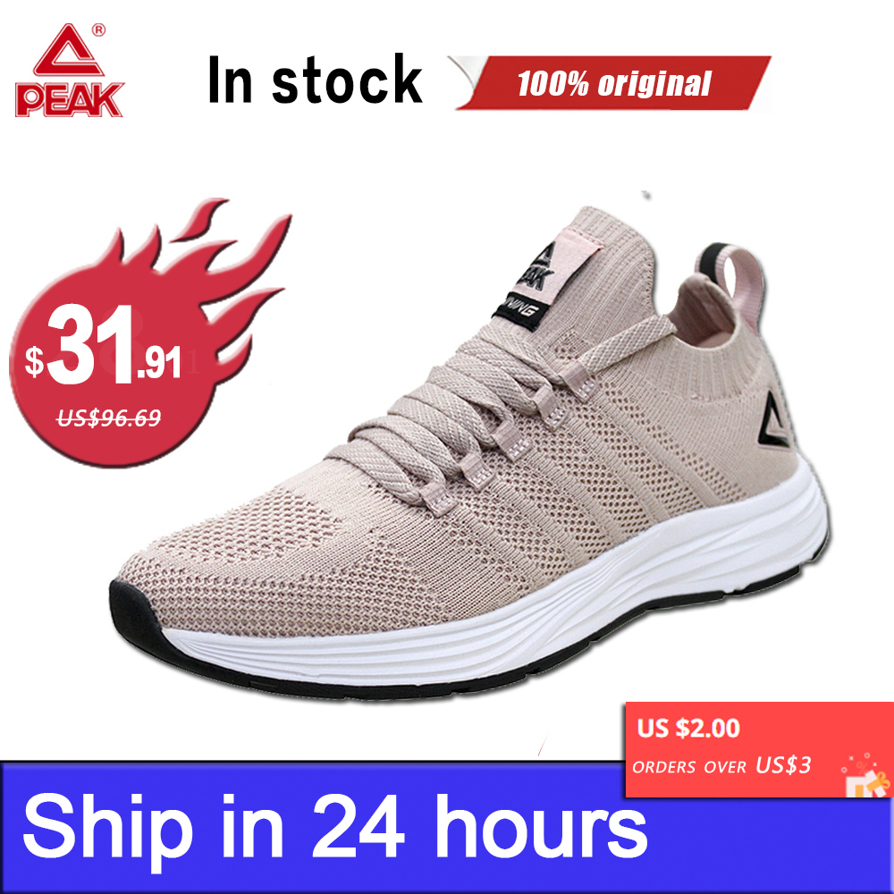 PEAK Women Sneakers Running Shoes For Men Breathable Upper Fitness Jogger Lightweight Training Sports Gym Yoga Unisex Footwear