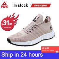 PEAK Women Sneakers Running Shoes for Men Breathable Upper Fitness Jogger Lightweight Training Sports Gym Yoga Unisex Footwear