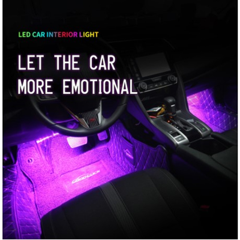 Car Interior Decorative Lighting Bar Ambient Foot Lamp With Cigarette Atmosphere Lights Backlight  Auto LED Light