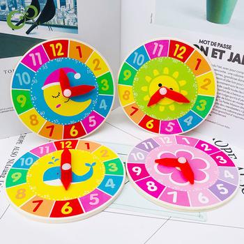 1 sztuk przedszkole drewniany zegar pomoce nauczycielskie zegarek osób uczących się puzzle dla dzieci wczesna edukacja czas rozpoznawania model YJN tanie i dobre opinie JOKEJOLLY CN (pochodzenie) Chiny certyfikat (3C) 2-4 lata 5-7 lat WJ20191017071Y Zwierzęta i Natura