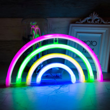 LED Rainbow Neon Light Sign Wall Decor Night Lights Home Decoration Party Supplies LED Decorative Lights Neon Signs Top Display neon sign we love harley neon signs real glass tubes neon bulb signboard custom lighted with plastic board neon lights for sale
