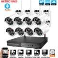 8CH аудио система видеонаблюдения беспроводная 1080P NVR наружная внутренняя P2P Wifi IP CCTV охранная аудио 2.0mp ip-камера система наблюдения комплект