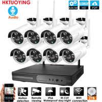 8CH Audio CCTV System Wireless 1080P NVR Outdoor indoor P2P Wifi IP CCTV Security Audio 2.0mp IP Camera System Surveillance Kit