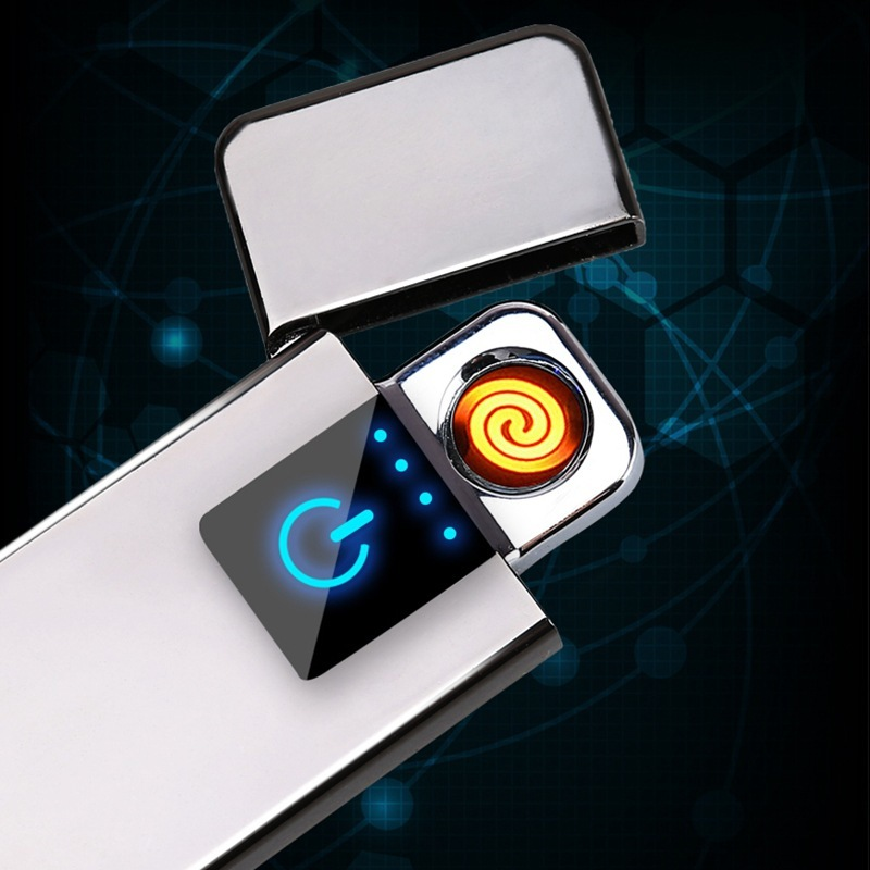 Mini- Usb Touch Induction Charge Lighter Point Smoke Detector Lighter Gadgets For Men