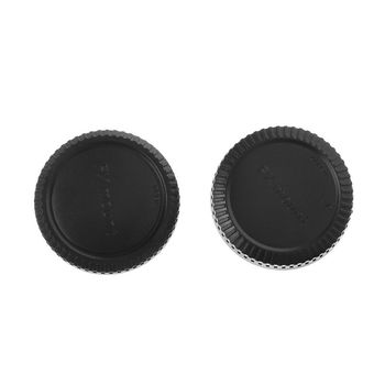 Rear Lens Body Cap Camera Cover Anti-dust Protection Plastic Black for Fuji Fujifilm FX X Mount image