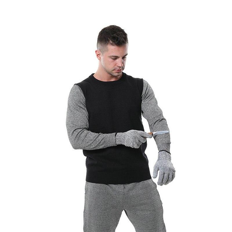 New Customized Grade 5 HPPE Cut Resistant Top Suit Work Jacket Anti-cut T Shirt For Men
