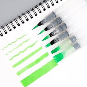 Портативная кисть для рисования SeamiArt, 6 шт., кисть для рисования акварелью, карандаш, мягкая кисть для рисования, для начинающих, товары для рукоделия