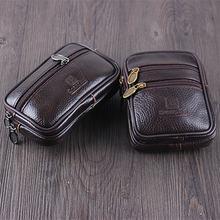 Мужской поясной кожаный кошелек bisi goro многофункциональная