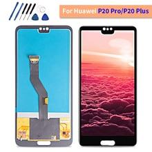 "Tft Kwaliteit 6.1 ""Lcd Voor Huawei P20 Pro Lcd scherm CLT AL01 Touch Panel Digitizer Vergadering P20 Lcd P20 plus Display"