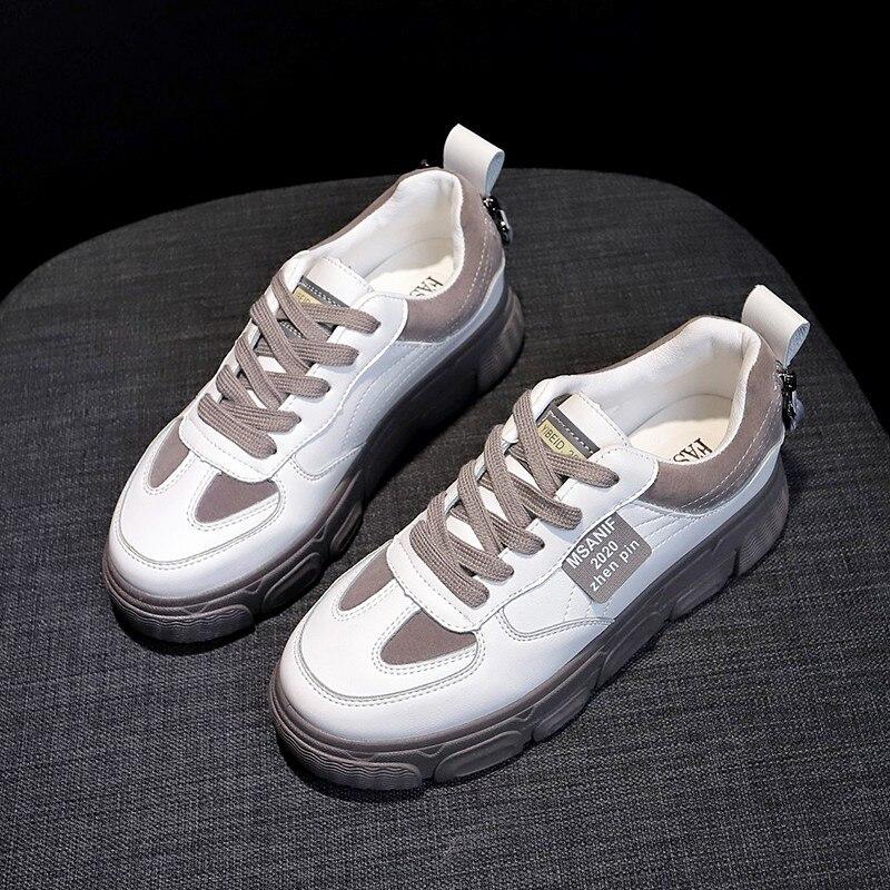 Women Vulcanized Shoes Comfortable Round Head Platform Shoes