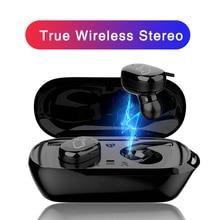 T2C TWS Беспроводные Мини Bluetooth наушники для Xiaomi huawei мобильный стерео наушники спортивные наушники с микрофоном портативная зарядная коробка