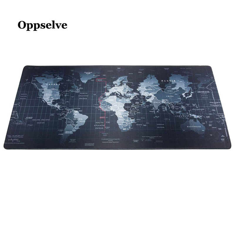 Office Desk Mats Oversize Mousepad Gaming Mouse Cushion XXL Mat World Map Mouse Pad Keyboard Pad Gel Soft Silicon Mouse Carpet
