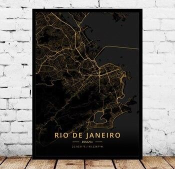 Póster De Rio De Río, San Pablo, Belem, Belo, Horizontal, Boa Vista,...
