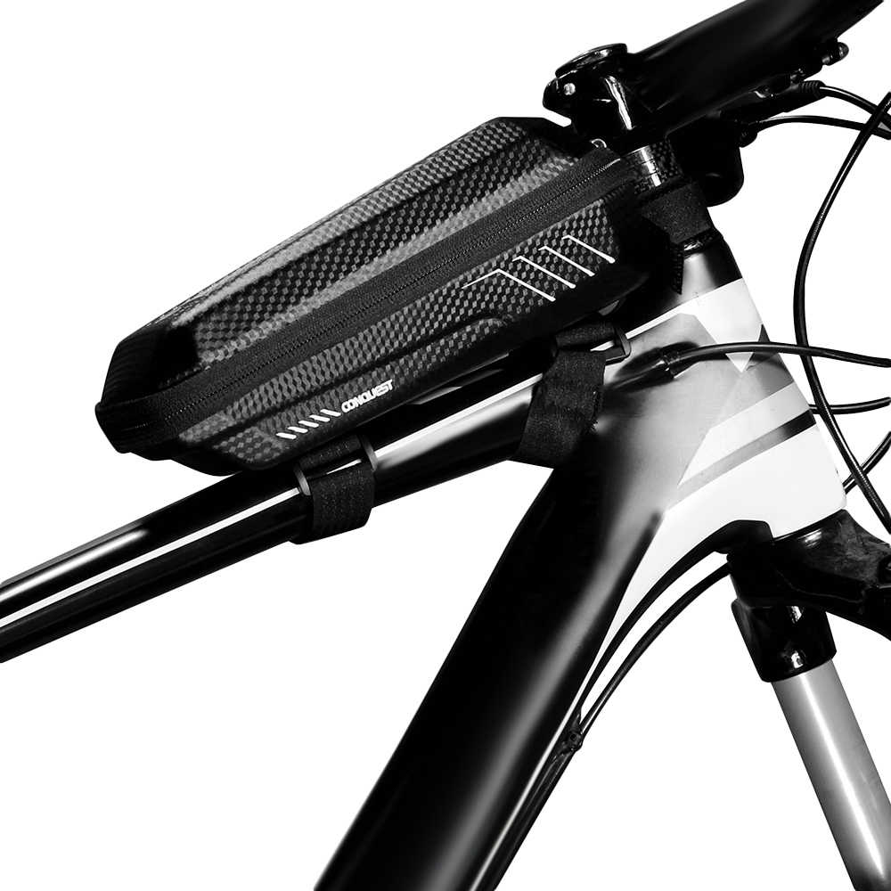 WILD MAN Bicycle Top Tube Front Beam Bag MTB Road Cycling Anti Pressure Sho H1A7