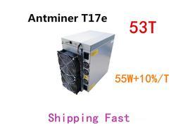 BTC BCH Miner AntMiner T17e 53TH/S Mit NETZTEIL Besser Als S9 S9j S15 T17 S17 S17 Pro WhatsMiner m3 M21S M20S Innosilicon T2T Ebit