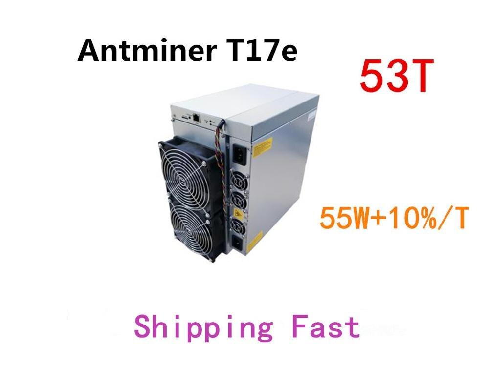 BTC BCH Miner AntMiner T17e 53TH/S avec PSU mieux que S9 S9j S15 T17 S17 S17 Pro what sminer M3 M21S M20S Innosilicon T2T Ebit