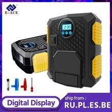Pompe à Air électrique Portable, système de gonflage numérique pour pneus, pour voiture, vélo, compresseur, 12V DC, E-ACE PSI, 150 ml, lumière LED
