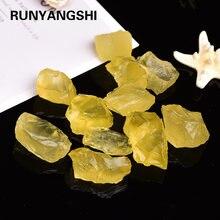 1 шт. натуральный желтый кварц, необработанный кристалл, цитрин, шероховатый бриллиант, любят натуральные камни и минералы, аквариумный каме...