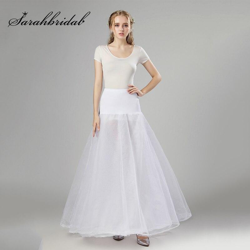 Vintage Floor Length Tulle White Crinoline Women Wedding Accessory 2021 Tiered Party Skirt Slip Empire Spandex Petticoat 12005
