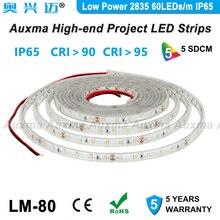 Low Power 2835 60LEDs/m LED Strip,CRI95 CRI90 IP65,DC12V/24V,300LED/Reel,5m/Reel,Waterproof for Advertising light boxes,kitchen