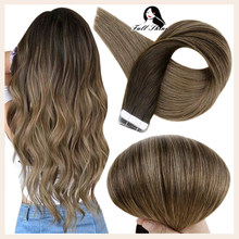 Full Shine Tape In Human Hair Extensions Balayage Color 50g 20 Pcs 100% Machine Remy Human Hair Tape On Hair Extensions Glue On