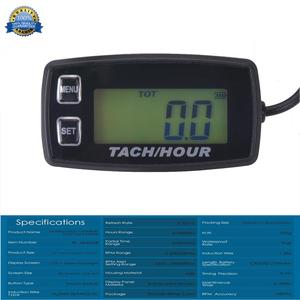 Backlight High Quality Hour Meter Tachometer RPM METER For ATV Tractor Generator lawn Mower Pit bike outboard MARINE RL-HM035R(China)