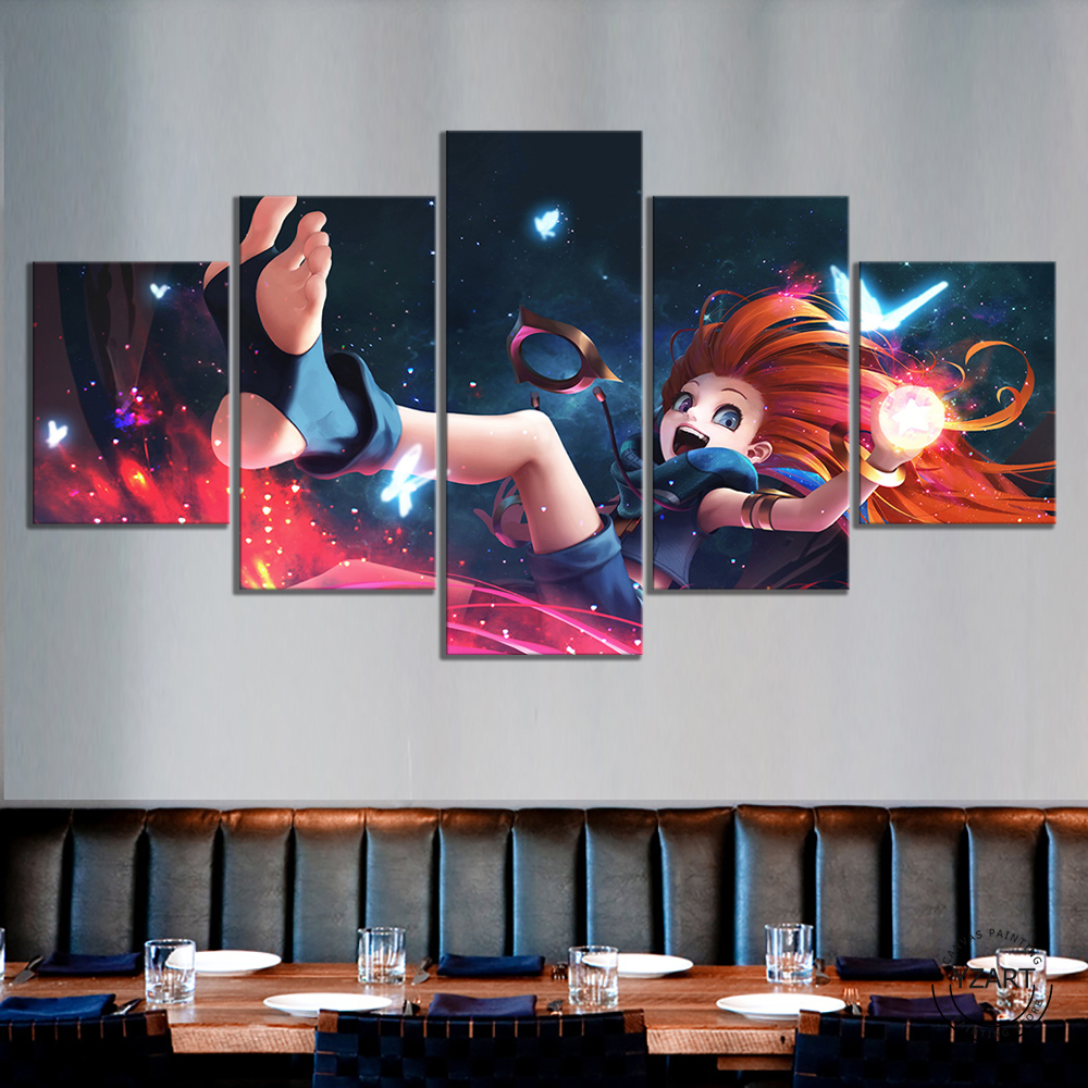 Art LOL Skin Zoe Poster HD Wall Picture League of Legends Video Games Art Canvas Paintings Wall Art Home Decor 2