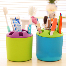 Multifunction Toothbrush Holder Porous Cup Storage Home Decoration Ornaments Plastics Pen Holder Figurines Household Crafts Gift цена