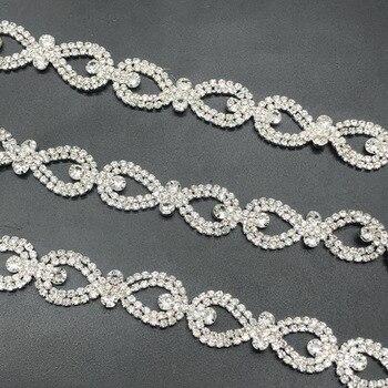 9Yards Rhinestone Chain Curtain Decoration Sew on Garment Rhinestones Banding Necklace Trim DIY Crafts