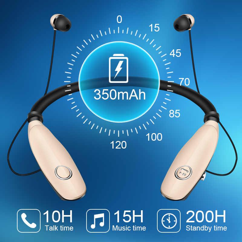 Bluetooth наушники беспроводные наушники для бега спорт бас звук беспроводные шейные наушники с микрофоном для Iphone Xiaomi наушники