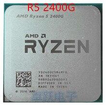 Amd ryzen 5 2400 グラムR5 2400 グラム 3.6 クアッドコアクアッドコア糸 65 ワットのcpuプロセッサYD2400C5M4MFBソケットAM4