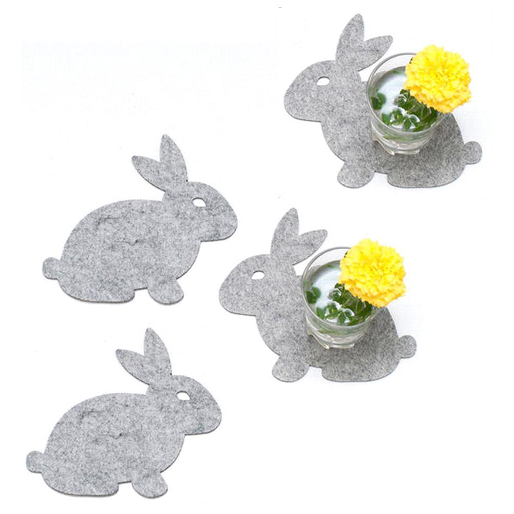 Easter Rabbit Placemat Coaster Dining Mat For Home Kitchen Decorations