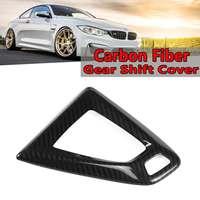 1Pcs Real Carbon Fiber Schalthebel Abdeckung Für BMW M3 F80 M4 F82 2015-2018 Auto Getriebe Shift knopf Innen Getriebe Rahmen Abdeckung Trim