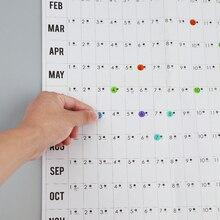 Блок ГОД ПЛАНИРОВЩИК ежедневный план настенный бумажный календарь с 2 листами EVA марка наклейки для офиса школы дома