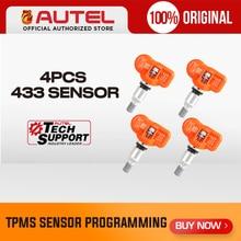 4pcs Autel MX חיישן 433MHZ 315MHz MX חיישן לתכנות האוניברסלי TPMS חיישן תיכנות עבור Autel TS601 TS401 TPMS כרית OBD2